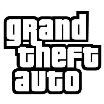 Logo oficial da série de jogos GTA (Grand Theft Auto). Fonte.