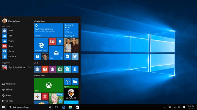 Windows 10 - Start Menu
